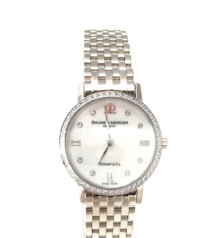 Tiffany & Co., Baume and Mercier Geneveve Diamond and 18kt White Gold Women's Watch
