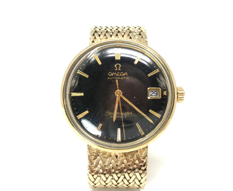Vintage Omega 14K Yellow Gold Seamaster Deville Men's Watch
