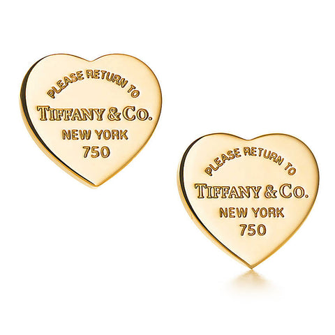 "Tiffany & Co. Heart Tag Yellow Gold 18kt ""Please Return To"" Earrings"