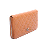 Chanel Matelasse Quilted Caviar Zipped Long Wallet A50097