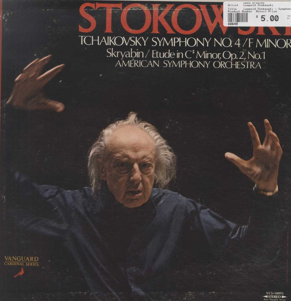 Leopold Stokowski - Symphony No. 4 / F Minor / Etude In C♯ Minor, Op. 2, No. 1