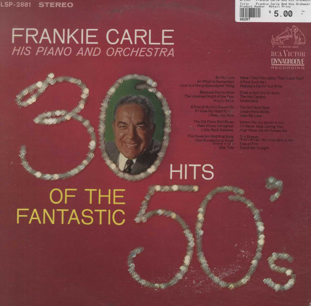 Frankie Carle And His Orchestra - 30 Hits Of The Fantastic 50's