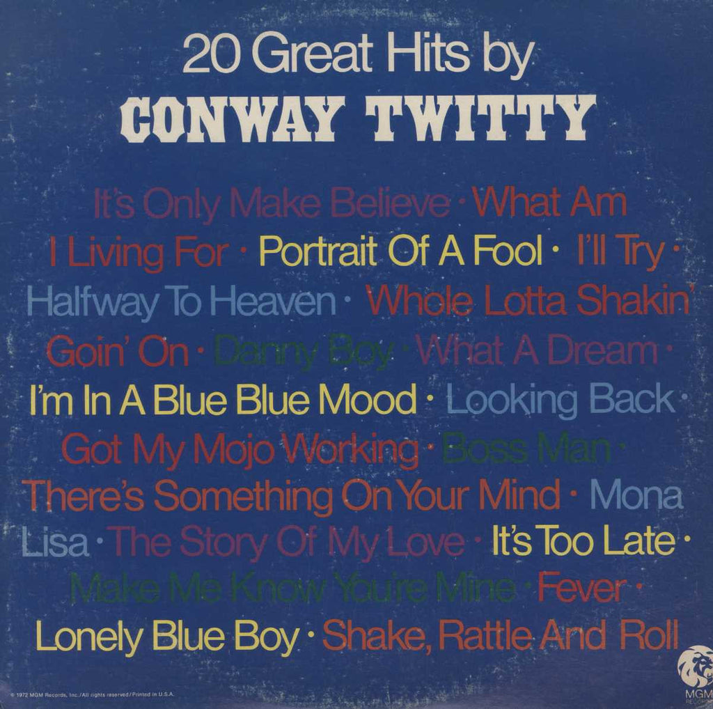 Conway Twitty - 20 Greatest Hits By Conway Twitty