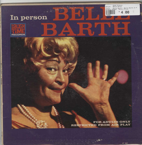 Belle Barth - Belle Barth In Person