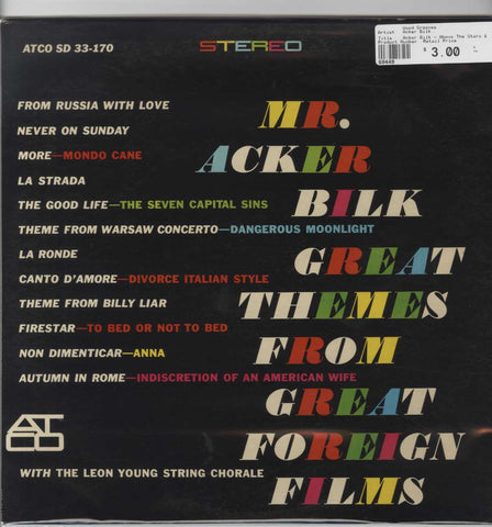 Acker Bilk - Above The Stars & Other Romantic Fancies