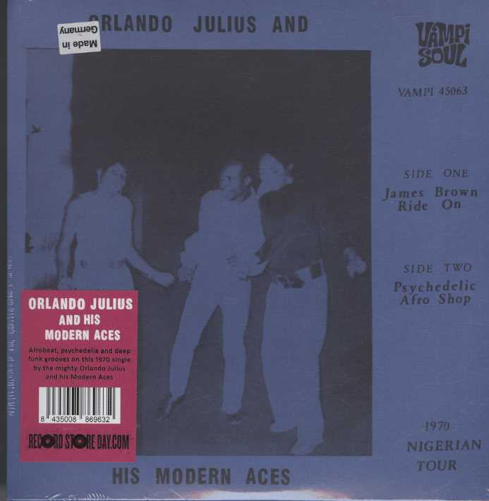 Orlando Julius & His Modern Aces - James Brown Ride On / Psychedelic Afro Shop