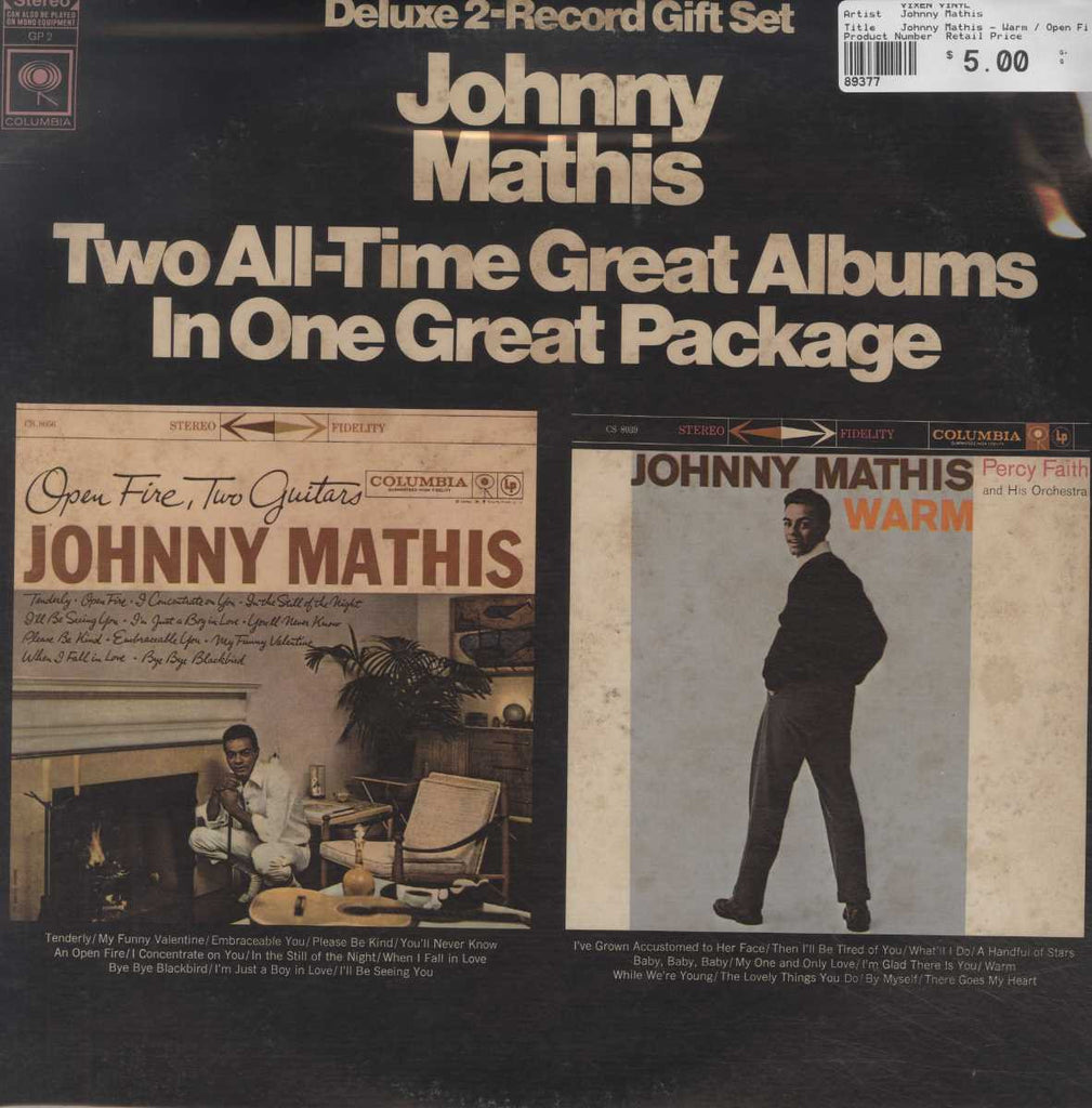 Johnny Mathis - Warm / Open Fire, Two Guitars