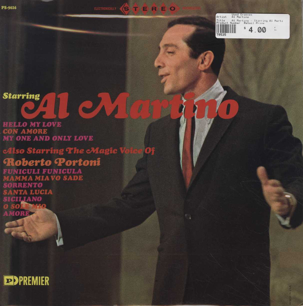 Al Martino - Starring Al Martino / Also Starring The Magic Voice Of Roberto Portoni