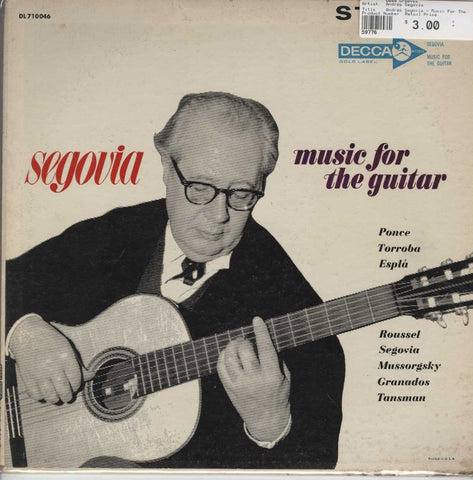 Andrés Segovia - Music For The Guitar