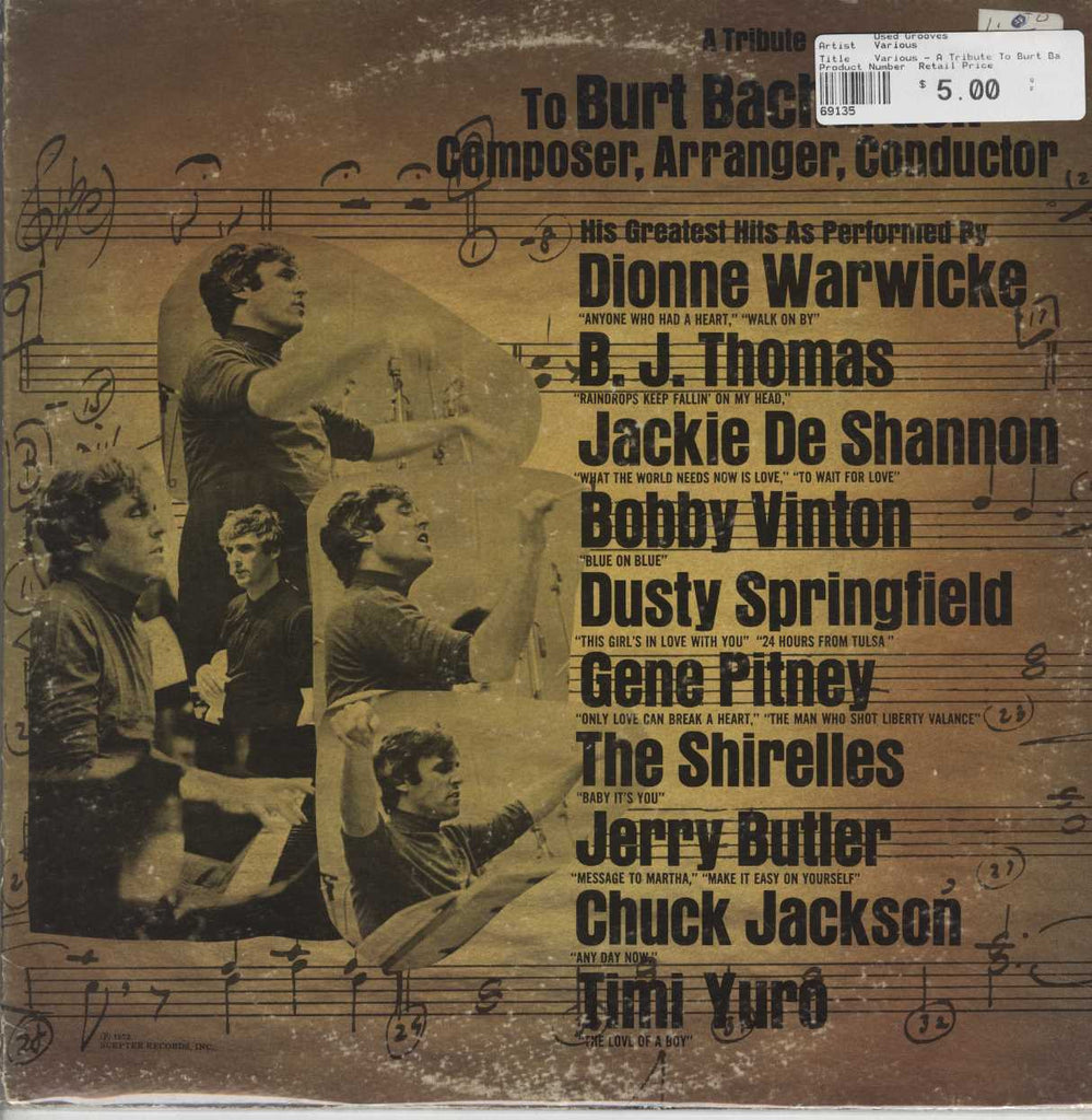Various - A Tribute To Burt Bacharach: Composer, Arranger, Conductor