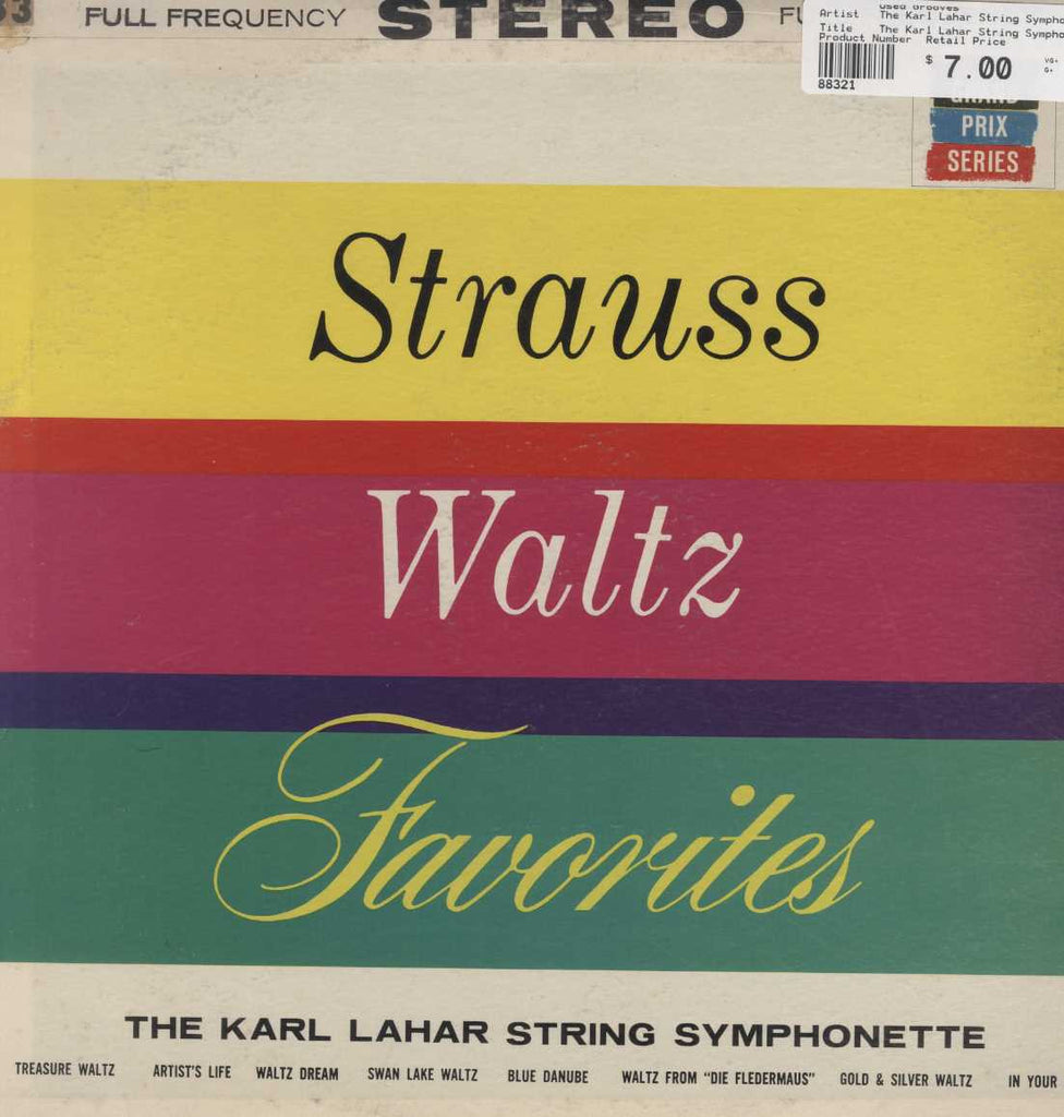 The Karl Lahar String Symphonette - Strauss Waltz Favorites
