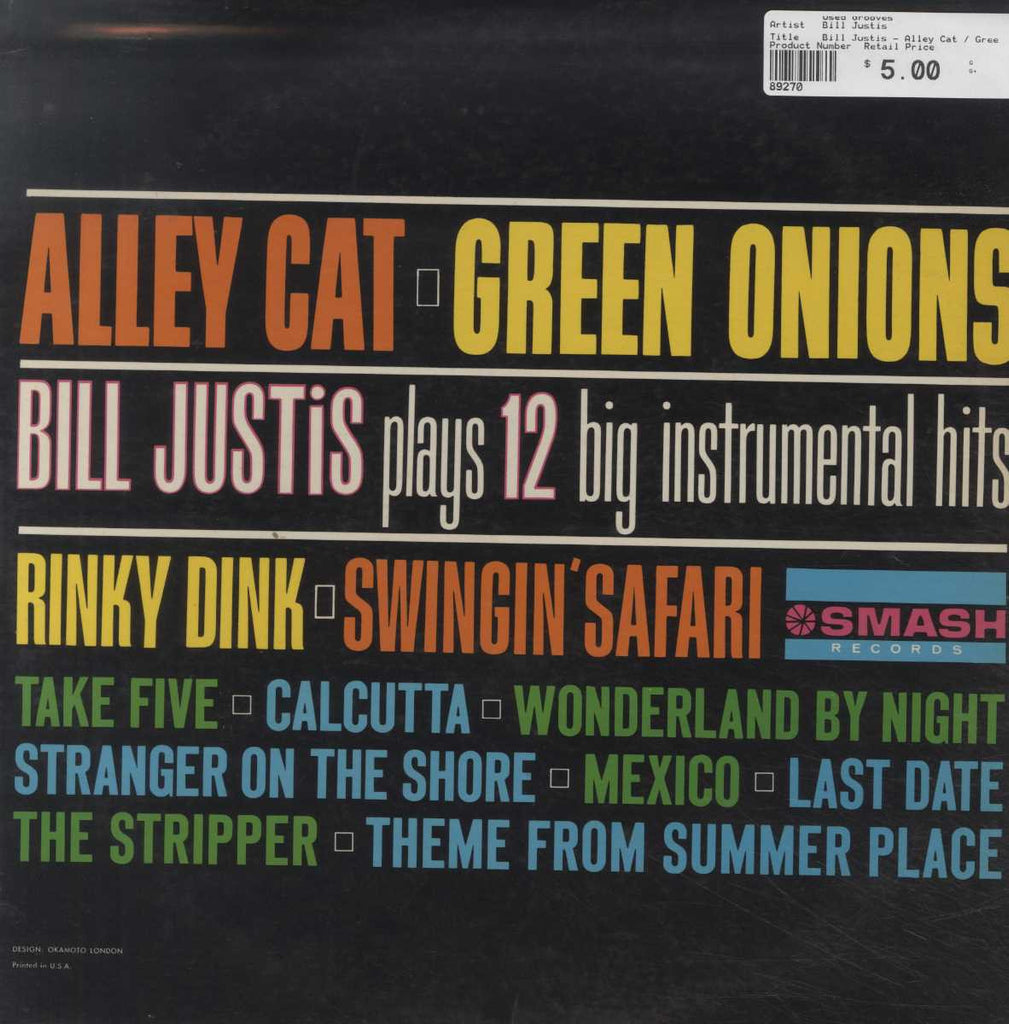 Bill Justis - Alley Cat / Green Onions: Bill Justis Plays 12 Big Instrumental Hits