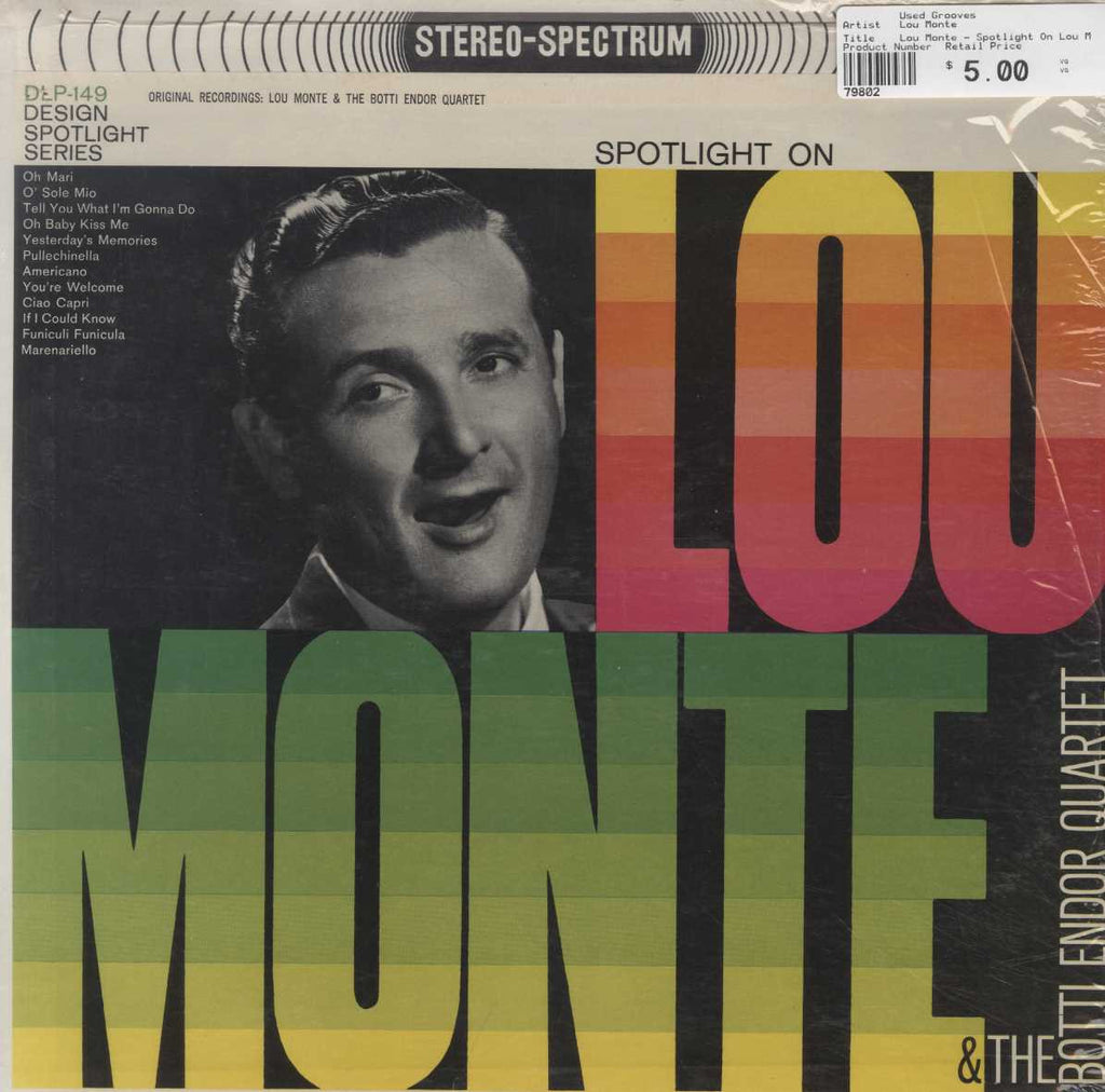 Lou Monte - Spotlight On Lou Monte And The Botti Endor Quartet