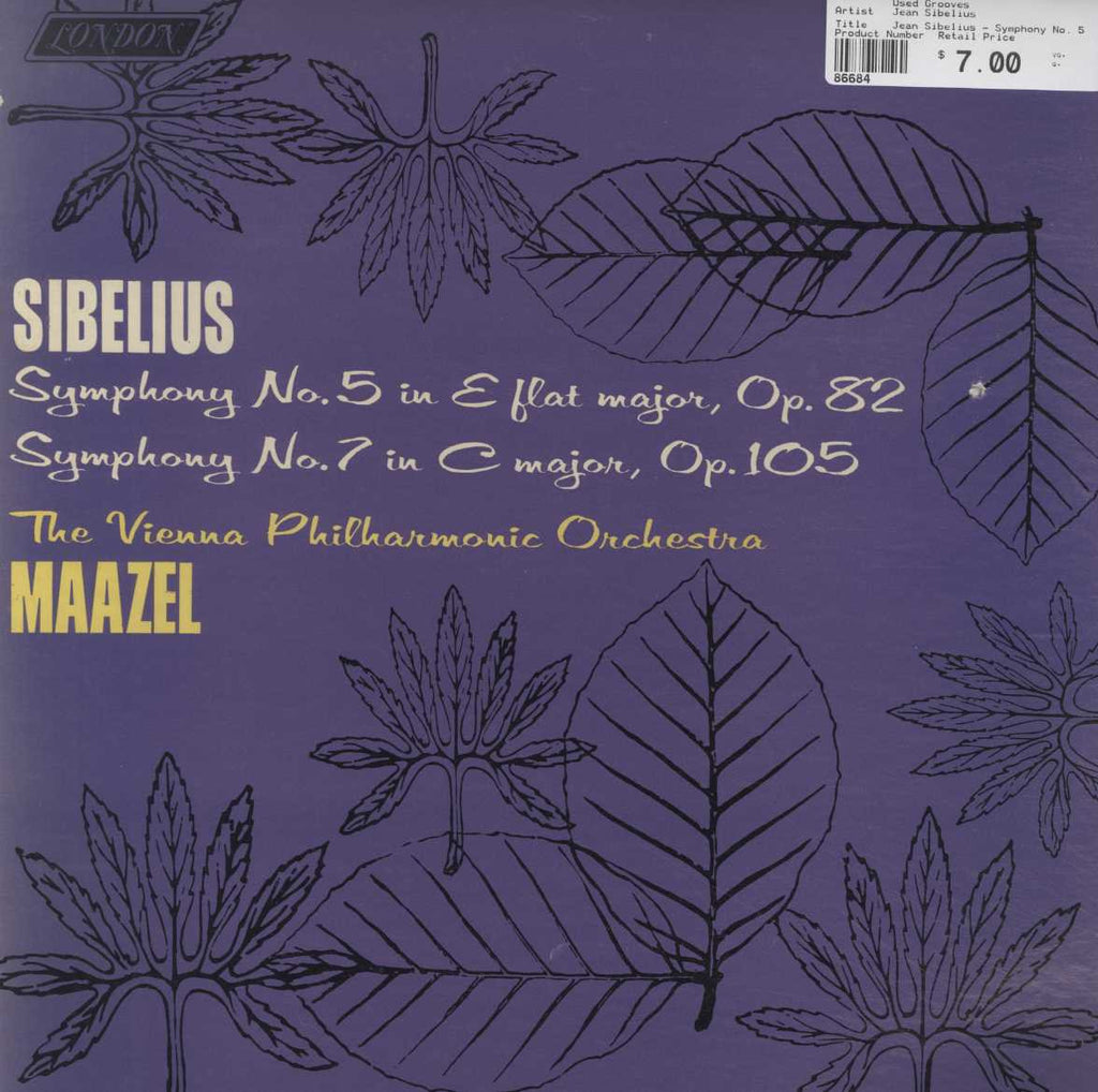 Jean Sibelius - Symphony No. 5 In E Flat Major, Op. 82 / Symphony No. 7 In C Major, Op. 105
