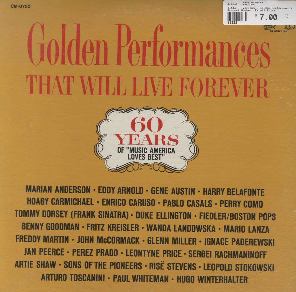 "Various - Golden Performances That Will Live Forever: 60 Years Of ""Music America Loves Best"""