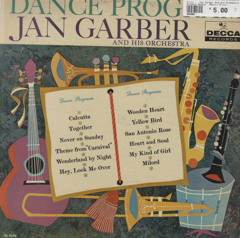 Jan Garber And His Orchestra - Dance Program