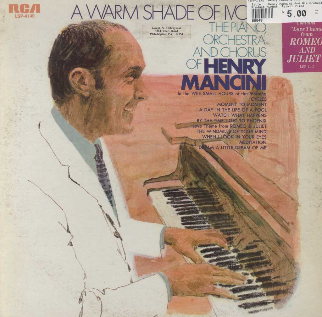 Henry Mancini And His Orchestra And Chorus - A Warm Shade Of Ivory