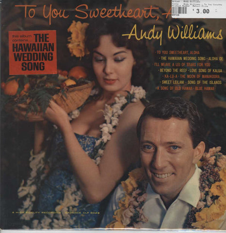 Andy Williams - To You Sweetheart, Aloha