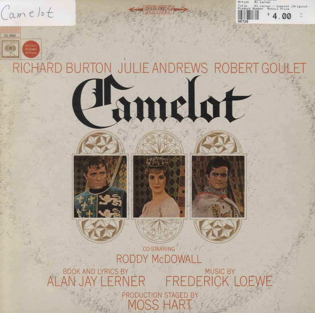 Al Lerner - Camelot (Original Broadway Cast)
