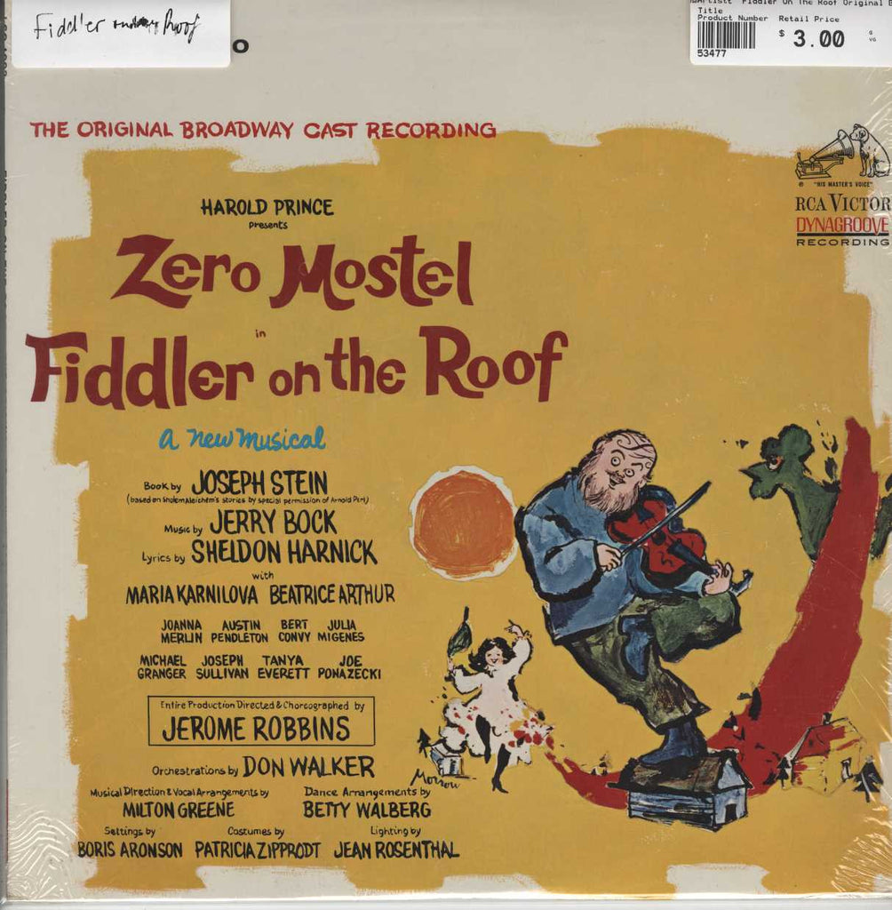 """Fiddler On The Roof"" Original Broadway Cast - Fiddler On The Roof (The Original Broadway Cast Recor"