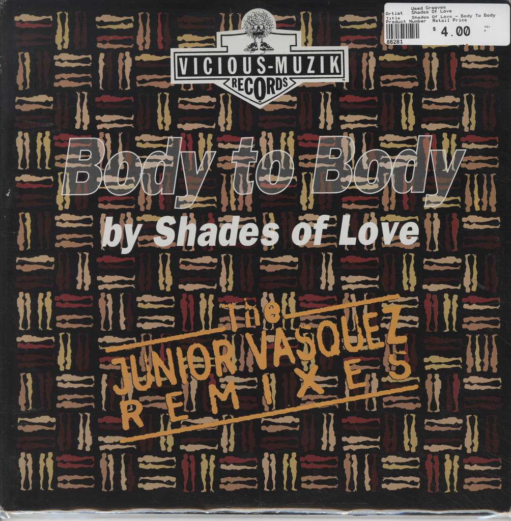 Shades Of Love - Body To Body (Keep In Touch) (The Junior Vasquez Remixes)