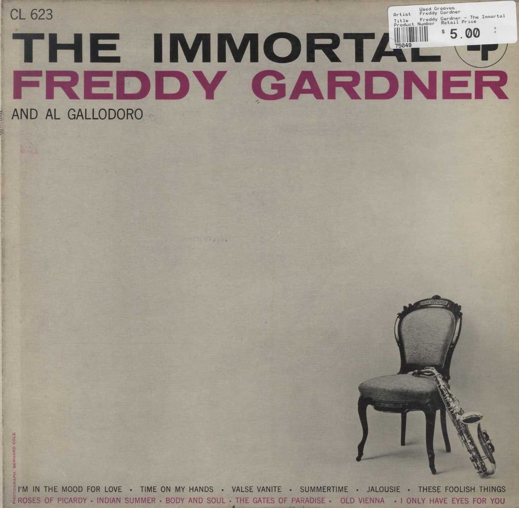 Freddy Gardner - The Immortal Freddy Gardner And Al Gallodora