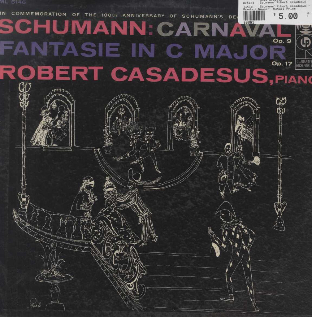 Scumann/ Robert Casadesus - Carnival, OP, 9/ Fantasie in C Major, OP, 17