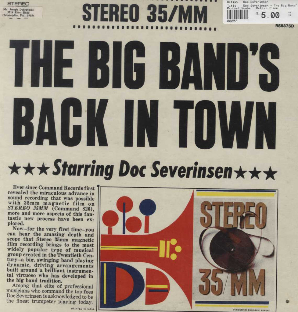 Doc Severinson - The Big Band's Back In Town
