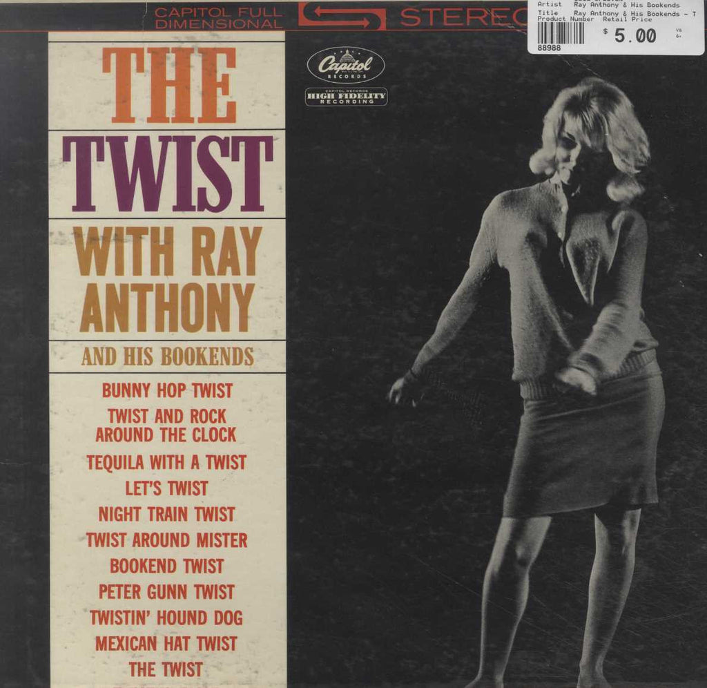 Ray Anthony & His Bookends - The Twist