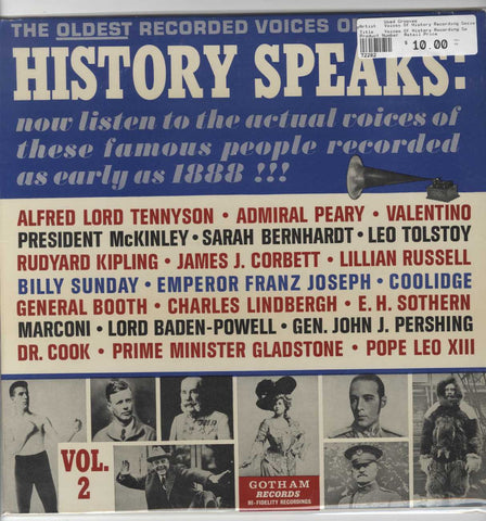Voices Of History Recording Society - History Speaks