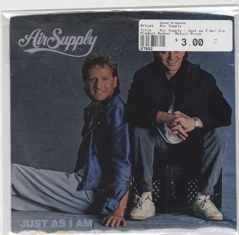 Air Supply - Just as I Am/ Crazy Love