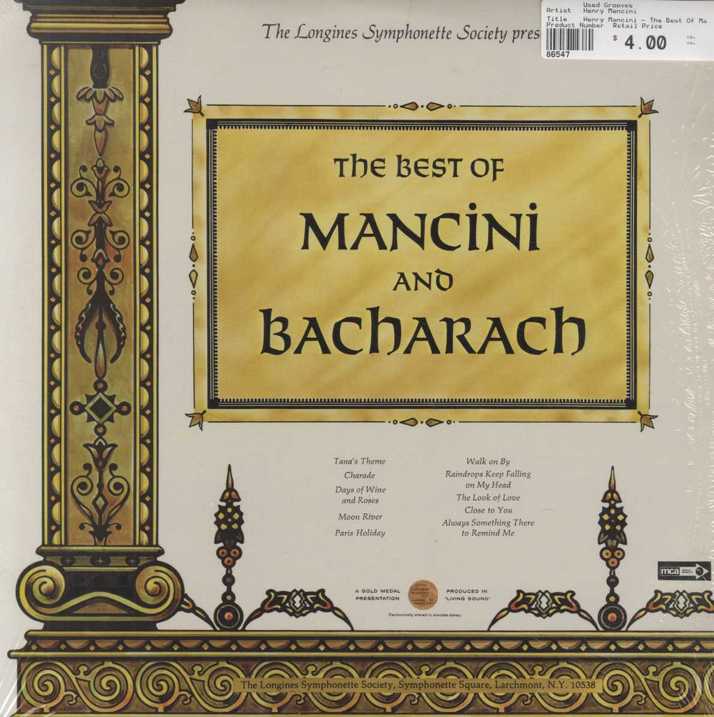 Henry Mancini - The Best Of Mancini And Bacharach