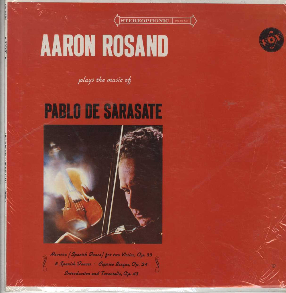 Aaron Rosand - Aaron Rosand Plays the Music of Pablo de Sarasate with Michael Walevski Piano