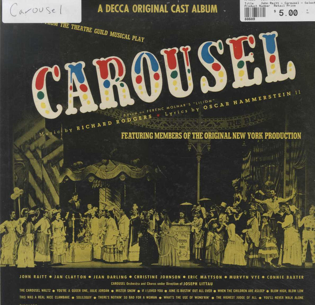 John Raitt - Carousel - Selections from the Theatre Guild Musical Play