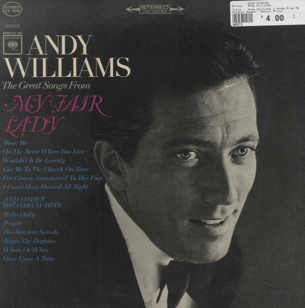 Andy Williams - Songs From My Fair Lady And Other Broadway Hits
