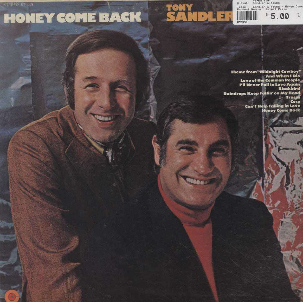 Sandler & Young - Honey Come Back
