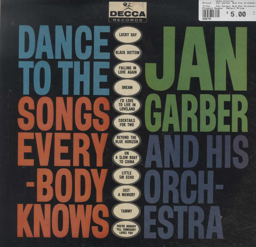 Jan Garber And His Orchestra - Dance To The Songs Everybody Knows