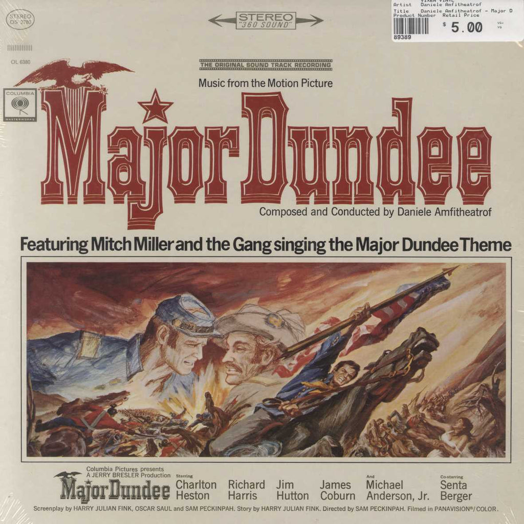 Daniele Amfitheatrof - Major Dundee (The Original Sound Track Recording)