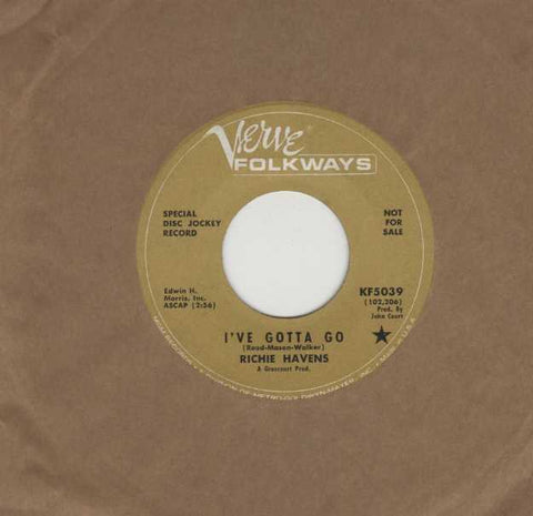 Richie Havens - I've Gotta Go / Morning, Morning RARE PROMO