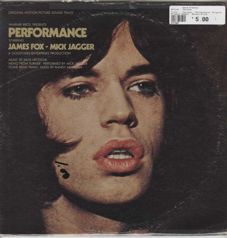 Various - Performance: Original Motion Picture Sound Track