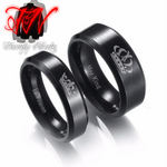 Stainless Steel King And Queen Couple Rings