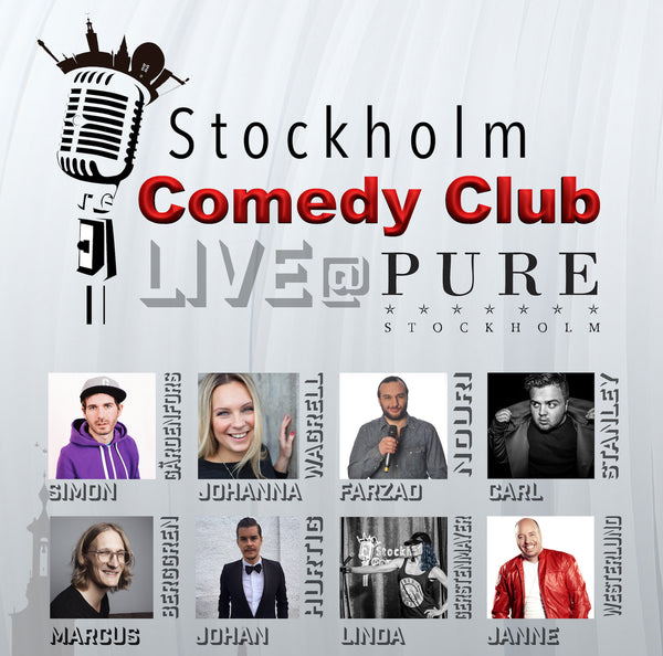 1/4 Stockholm Comedy Club @PURE Nightclub