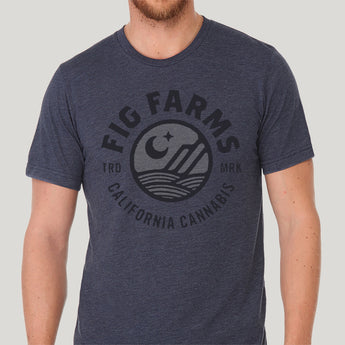 Logo Tee: Light Navy