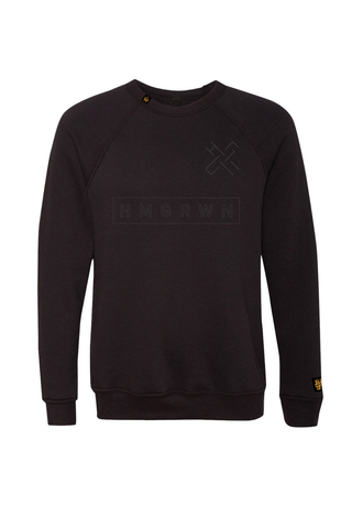 HMGRWN Box Logo Crewneck Sweater - Black