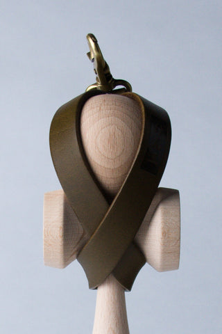 Leather Kendama Holster - Army Green
