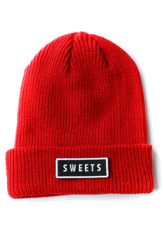 Ribbed Beanie | Red