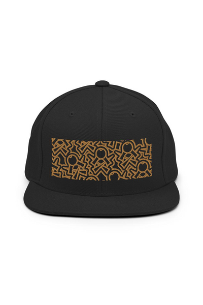 Black&Gold Crosskens Snapback