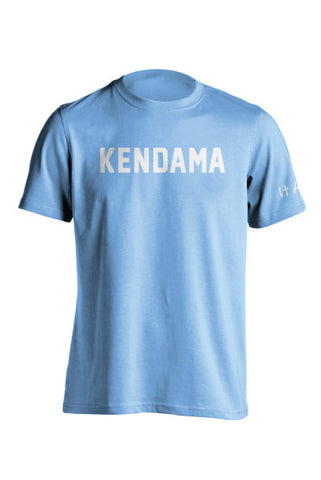 Kendama Jersey Tee - Heather Light Blue - White