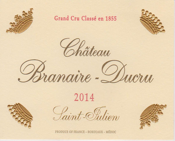 Laguna Cellar, Château Branaire-Ducru 2014, Saint-Julien, Bordeaux featured on Laguna Cellar