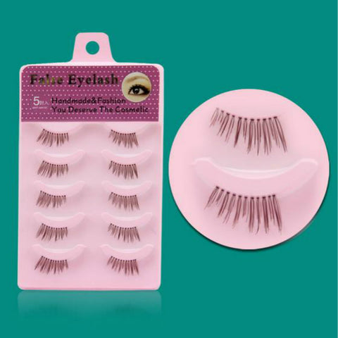 5 Pair Average Length Criss Cross False Eyelashes